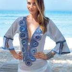 Luxusní vzdušná tunika jako plážové šaty