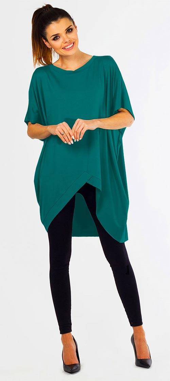 Zelená těhotenská tunika