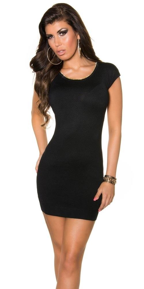 Dámské černé mini šaty
