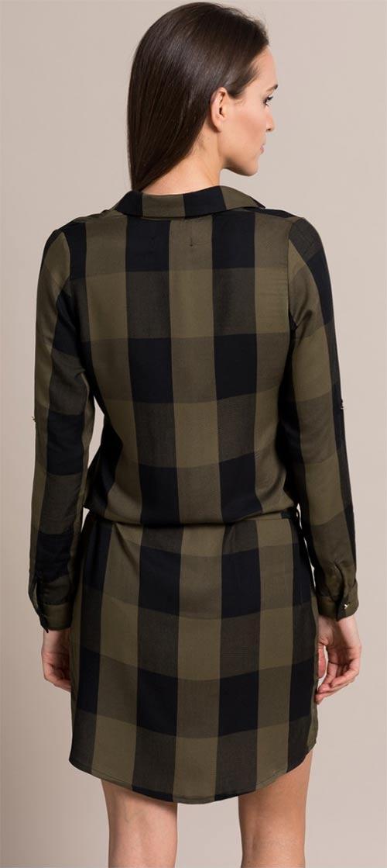 Karovaná dámská dlouhá košile