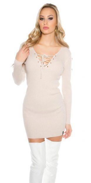 Dámské úpletové mini šaty - tunika