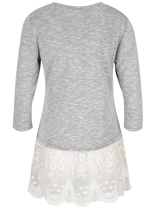 Tunika - tričko a krajková sukénka