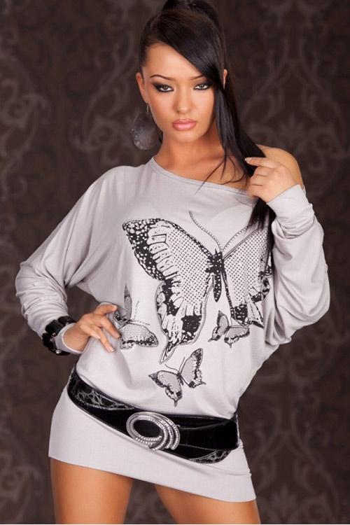 Tunika s potiskem motýla