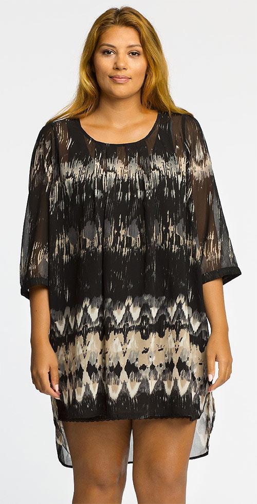 Tunika Size Plus z prodyšné látky z kolekce Juanita