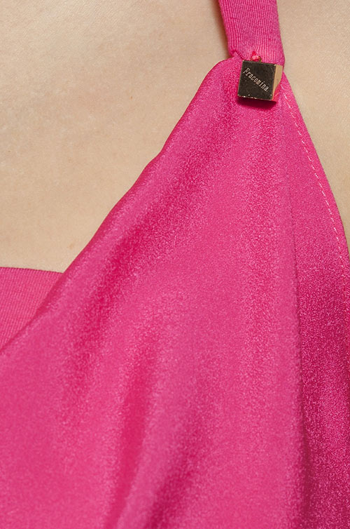 Sexy volná růžová dvouvrstvá tunika Fracomina