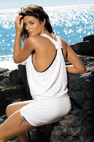 Bílá plážová sportovně-elegantní tunika Marko Elsa Bianco