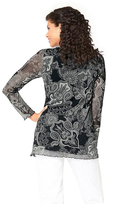 Květovaná krajková tunika