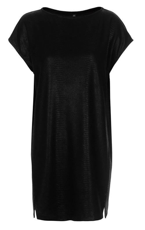 Černá tunika jako šaty