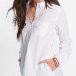 Košilová dámská tunika s límečkem