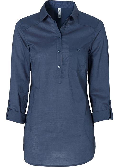 Modrá košilová tunika