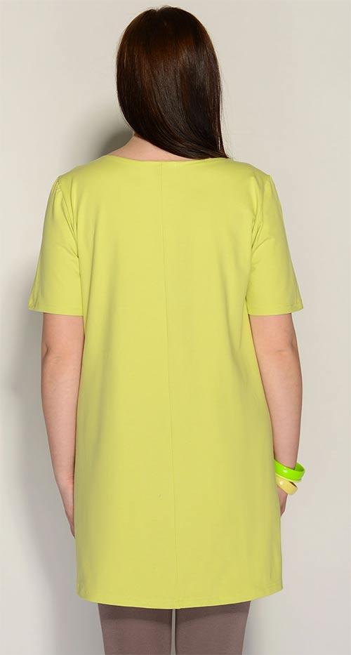 Dělší žlutá dámská tunika