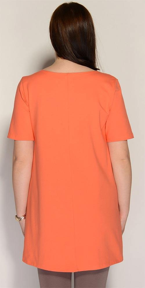 Oranžová bavlněná tunika