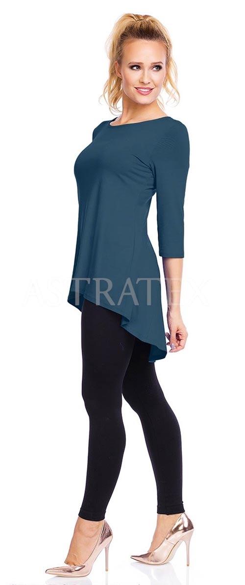 Modrá tunika i pro těhotné