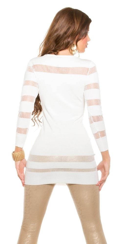 Bílá svetrová tunika