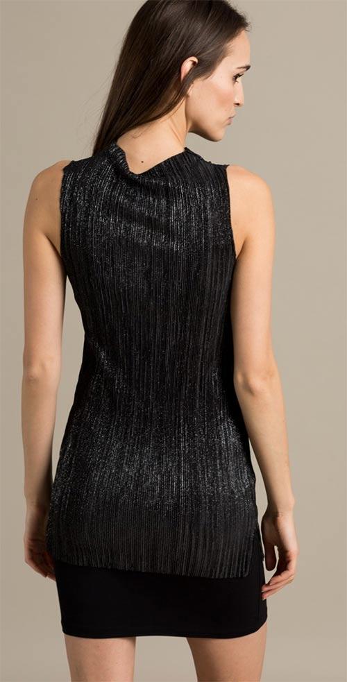 Lesklé černé společenské mini šaty