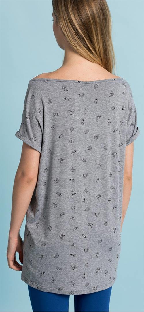 Prodloužené dámské tričko