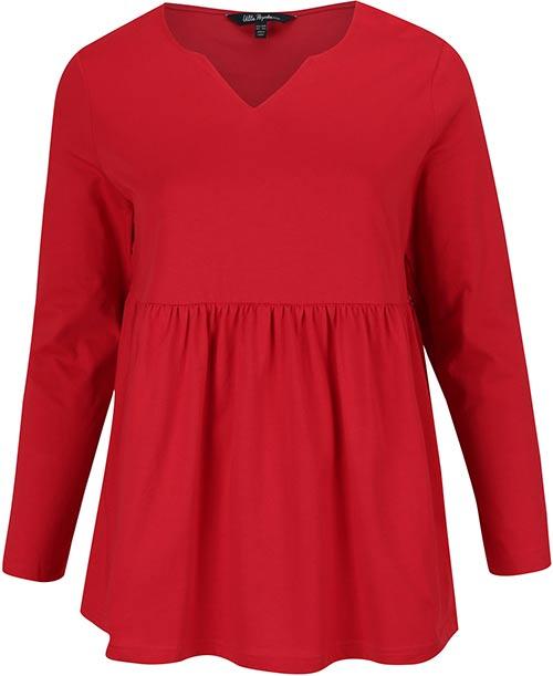 Červená tunika s dlouhým rukávem