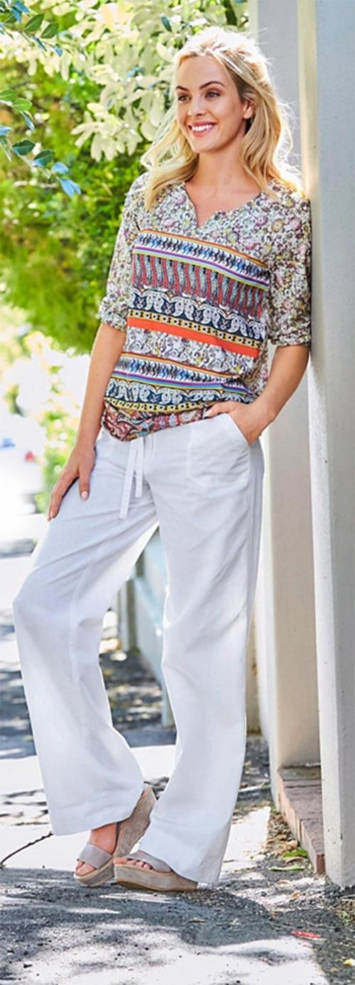 Tunika k letním kalhotám