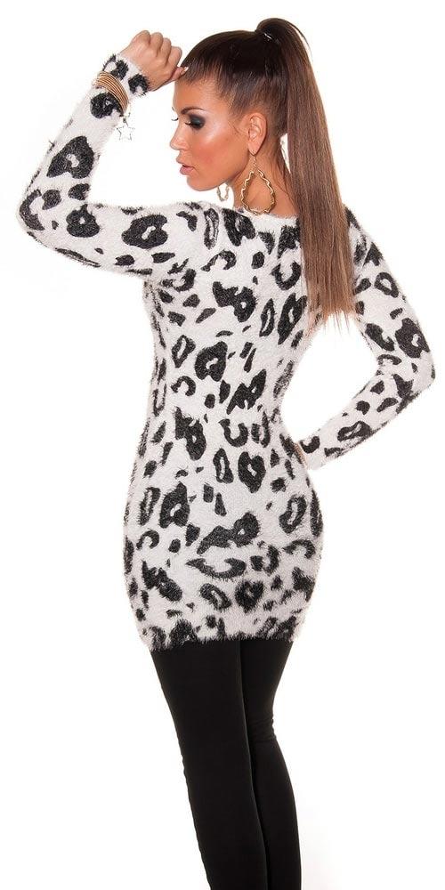 Černobílý dámský svetr