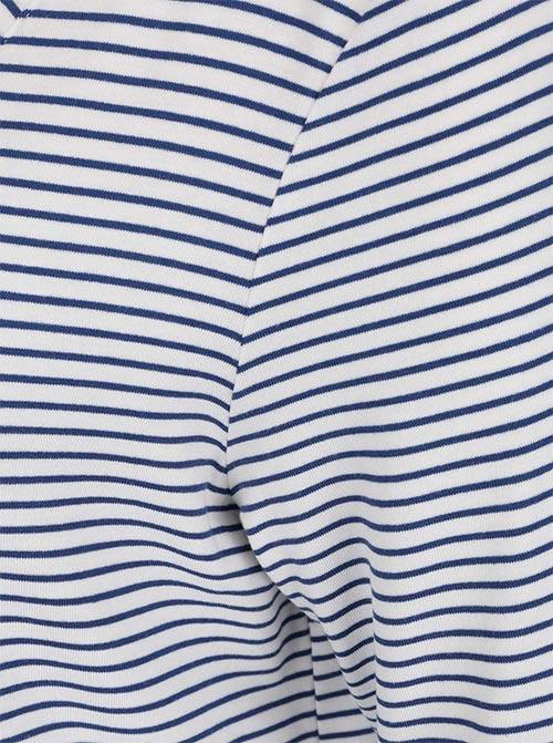 Modrobílá pruhovaná tunika