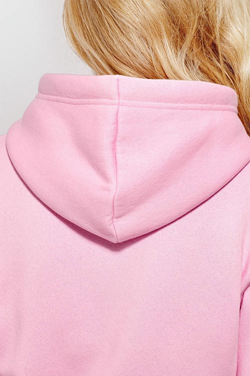 Růžová tunika s kapucí
