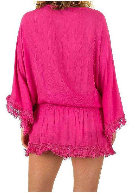 Letní růžová dámská tunika