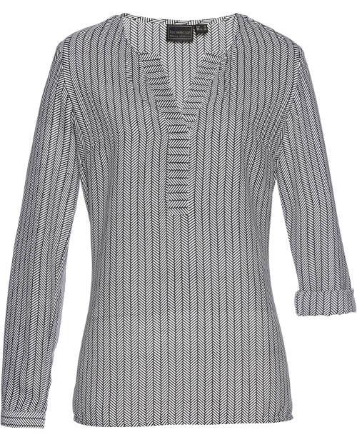 Pruhovaná košilová tunika