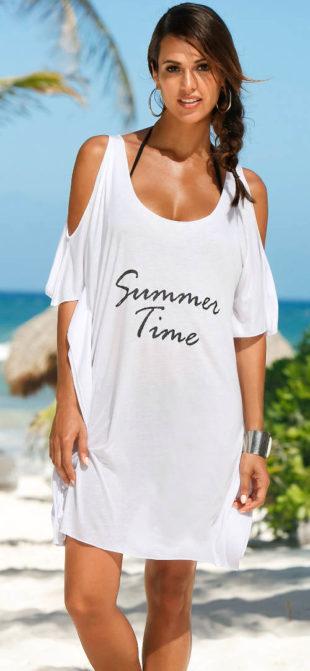 Dlouhé volné tričko přes plavky