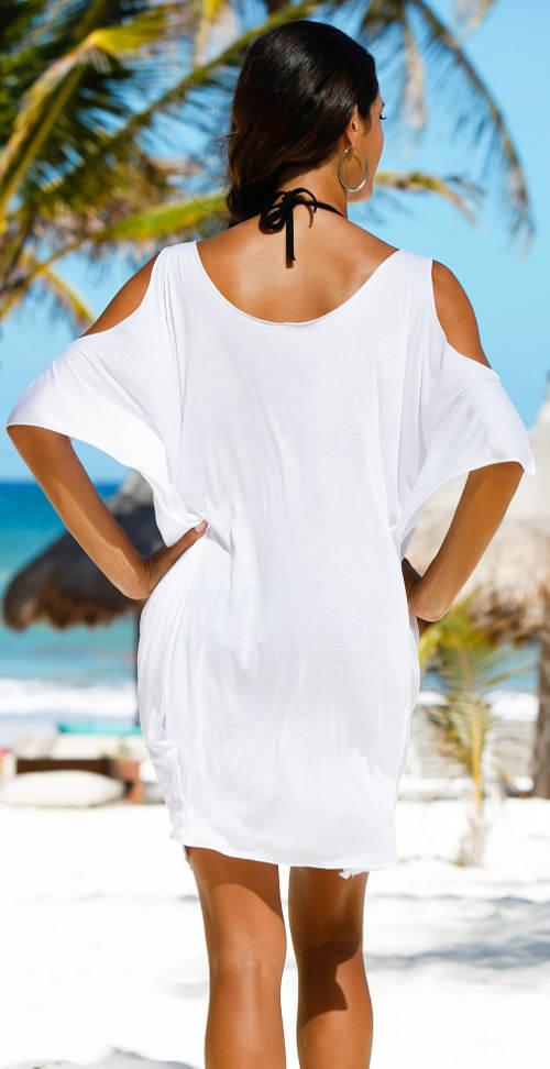 Plážové tričko s průstřihy na ramenou