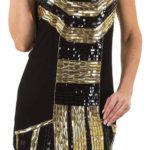 Černo-zlatá společenská tunika