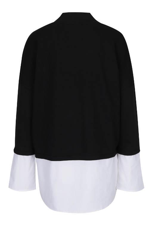 Černobílá dámská tunika