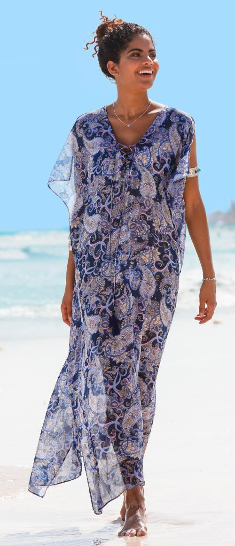 Dlouhé letní plážové šaty