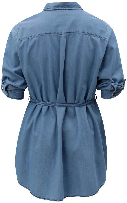 Modrá riflová tunika
