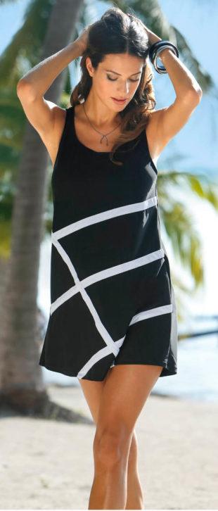 Plážové šaty z plavkového materiálu