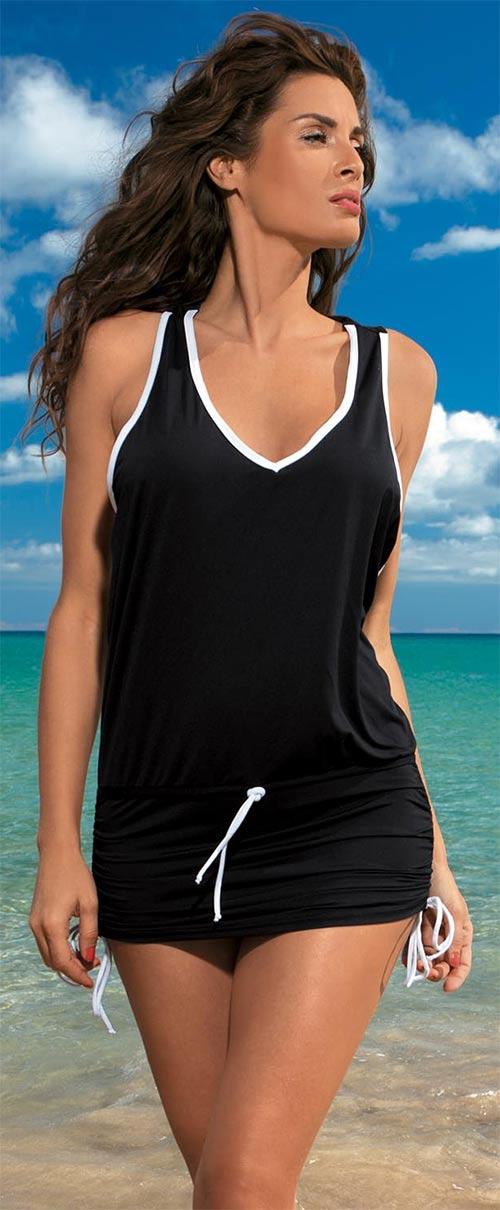 Sportovní šaty přes plavky