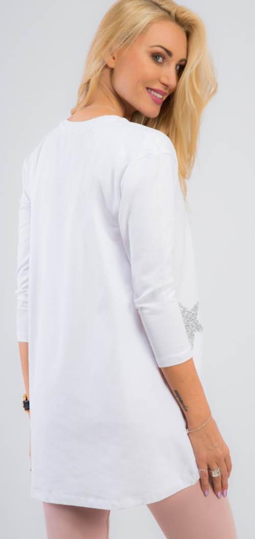 Bílá bavlněná dámská tunika
