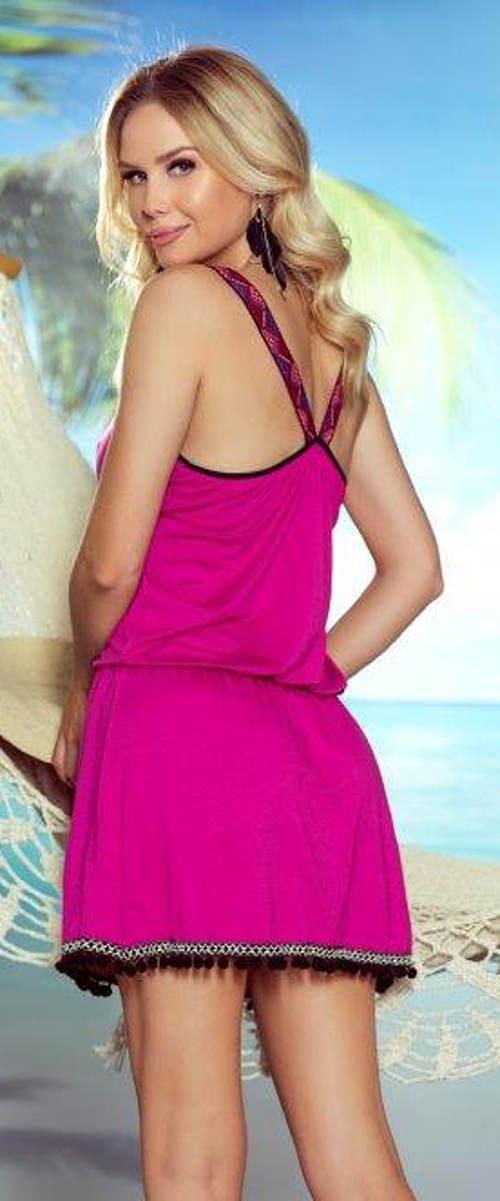 Fialové plážové šaty se sportovními zády
