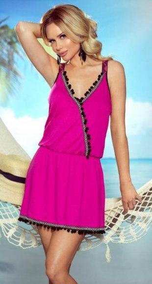 Letní plážové šaty zavinovacího vzhledu