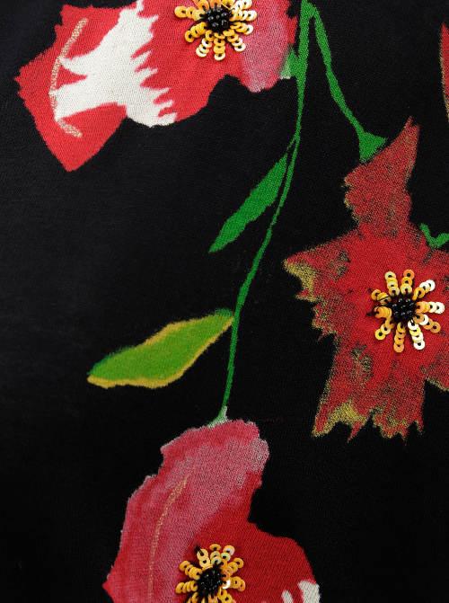 Květinová tunika s flitry