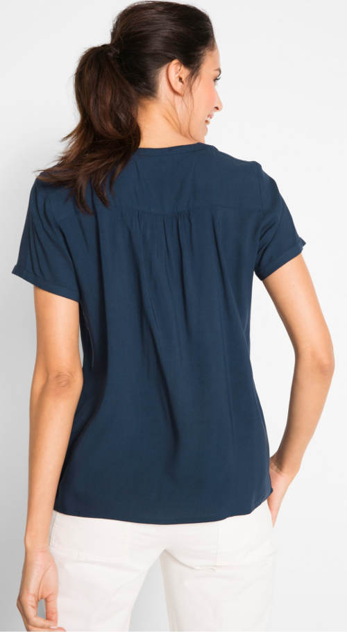 Modrá tričková tunika