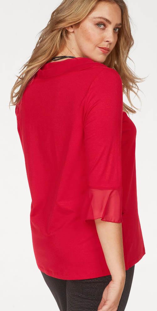 Jednobarevná červená dámská halenka