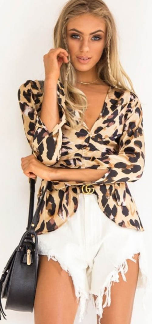 Leopardí tunika s páskem