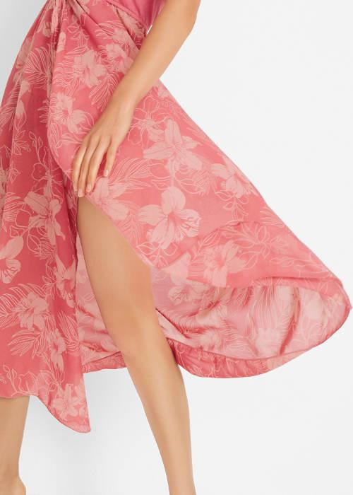 Široká květovaná sukně
