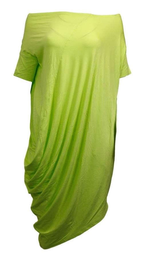 Vzdušná prodloužená zelená tunika