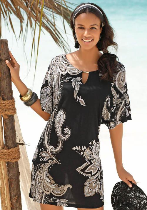 Lehounká ozdobná plážová tunika