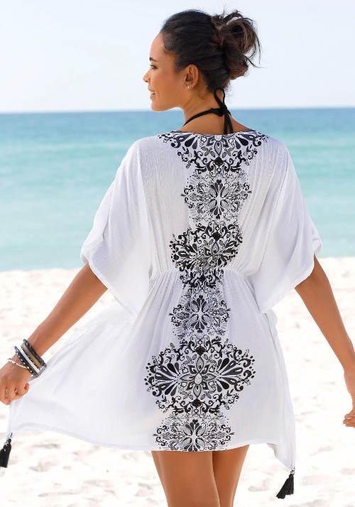 Vzdušná letní tunika se širokou sukní