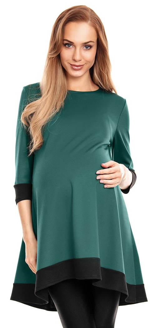 Pohodlná těhotenská tunika s 3/4 rukávy