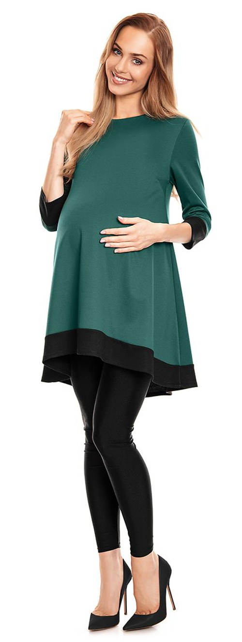 Zelená tunika pro těhotné