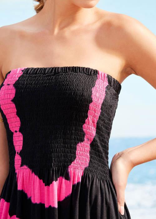 Letní dámské šaty nad prsa