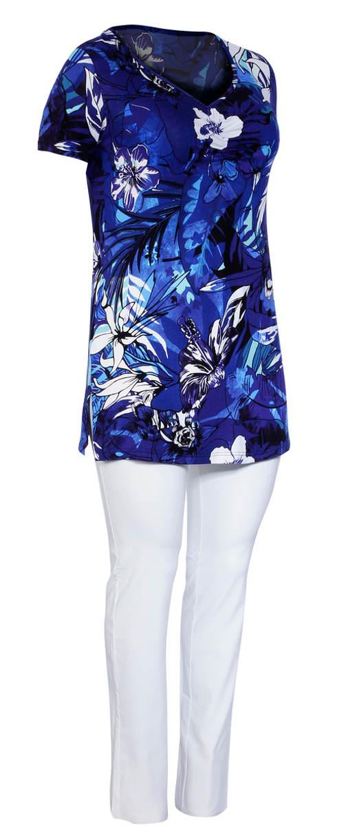 Letní květinová tunika nejen pro plnoštíhlé